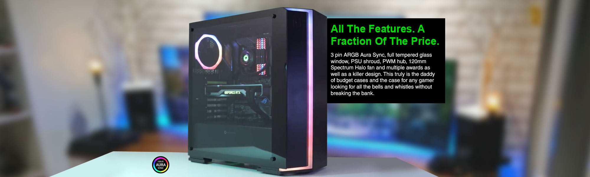 Starlight RGB Tempered Glass Gaming Case - GameMax UK