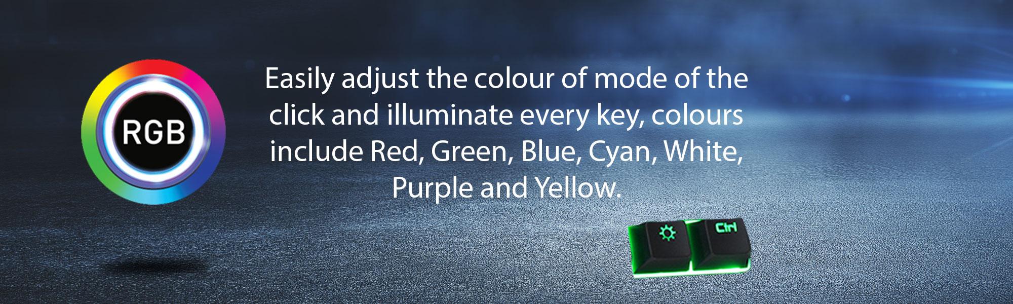 Click Mechanical Feel Keyboard RGB - GameMax UK